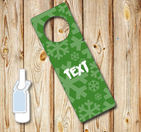 Green neck tags with snowflakes 2