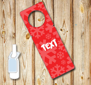 Red neck tags with snowflakes 2  | Free printable neck tag