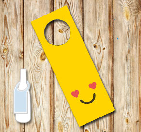 Neck tags with emojis i love  | Free printable neck tag