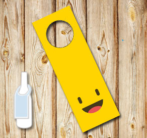 Neck tags with happy emojis  | Free printable neck tag