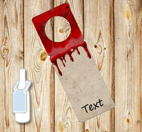 Neck tags with dripping blood  | Free printable for Halloween