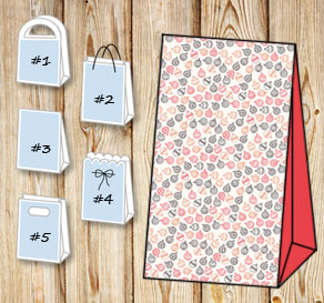 Gift bags with ornaments 3  | Free printable for Christmas