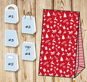 Gift bags with christmas theme 2  | Free printable for Christmas