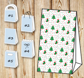 Gift bags with christmas theme 4  | Free printable for Christmas