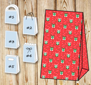 Gift bags with christmas theme 5  | Free printable for Christmas
