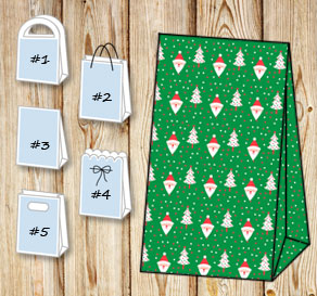 Gift bags with christmas theme 6  | Free printable for Christmas
