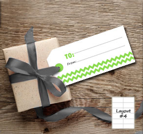 Gift tags with green chevron (to/from)  | Free printable gift tag
