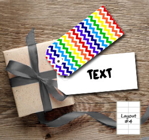 Chevron pattern gift tags in rainbow colors  | Free printable gift tag