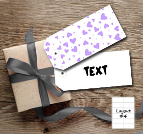 Gift tags with light purple hearts  | Free printable for Valentines day