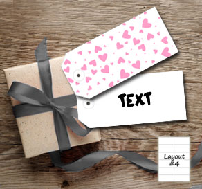 Gift tags with light pink hearts  | Free printable for Valentines day