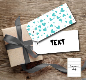 Gift tags with turquoise hearts  | Free printable for Valentines day