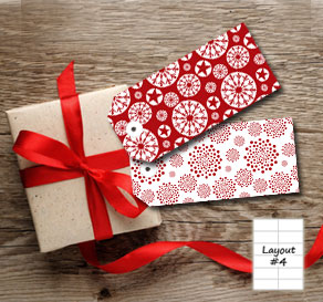 Red gift tags for christmas 2  | Free printable for Christmas