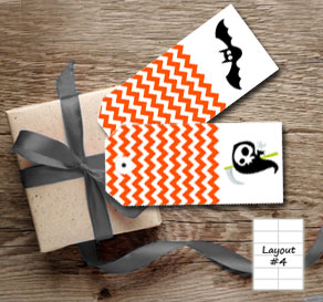 Orange gift tags for Halloween  | Free printable for Halloween