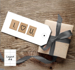 White gift tags with scrabble I HEART YOU  | Free printable gift tag