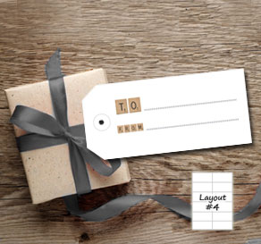 Gift tags with scrabble (to/from)  | Free printable gift tag