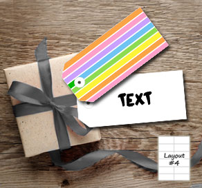 Striped gift tags in light rainbow colors  | Free printable gift tag