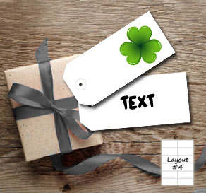 White gift tags with shamrock  | Free printable for St Patricks day