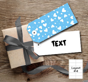 Light blue gift tags with white hearts  | Free printable for Valentines day
