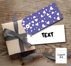 Dark purple gift tags with white hearts  | Free printable for Valentines day