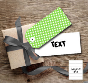 Green gift tags with white dots  | Free printable gift tag