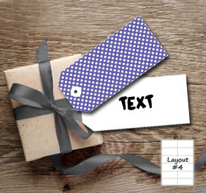 Purple gift tags with white dots  | Free printable gift tag