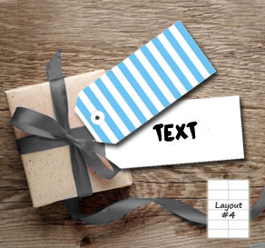 Light blue and white striped gift tags  | Free printable gift tag
