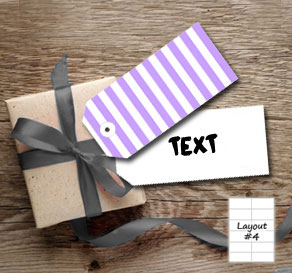 Light purple  and white striped gift tags  | Free printable gift tag