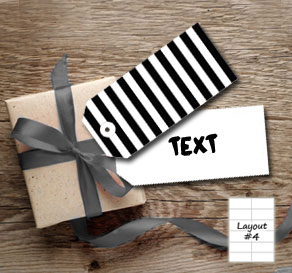 Black and white striped gift tags  | Free printable gift tag