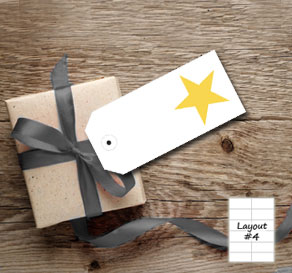 White gift tags with yellow stars  | Free printable gift tag