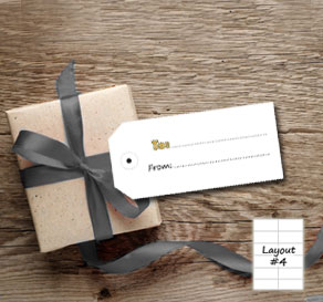 Gift labels to/from (guld)  | Free printable gift tag