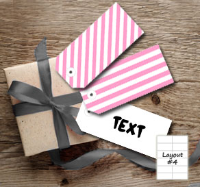 Pink and white striped gift tags 	  | Free printable gift tag