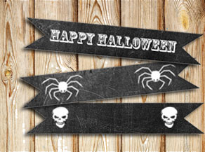 Straw decorations with chalkboard  | Free printable straw decorations