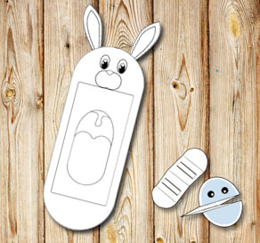 Hand puppet: Bunny  | Free printable for Easter