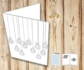Easter card: Easter eggs in strings to color yourself  | Free printable for Easter
