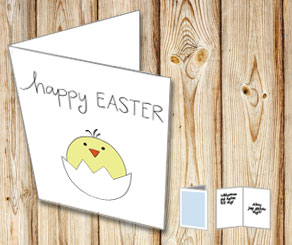 Easter card: Happy Easter  | Free printable for Easter