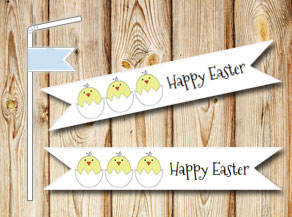 Straw decoration: Happy Easter  | Free printable for Easter