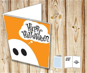 Halloween card: Gosth  | Free printable for Halloween