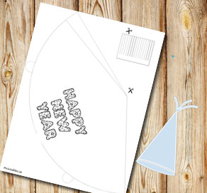 Party hat Happy New Year 1  | Free printable for New Years Eve