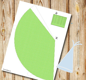 Green dotted party hat  | Free printable party hat