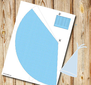 Light blue dotted party hat  | Free printable party hat