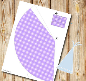 Light purple dotted party hat  | Free printable party hat