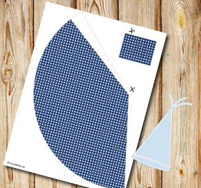 Dark blue dotted party hat  | Free printable party hat