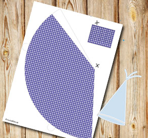 Purple dotted party hat  | Free printable party hat