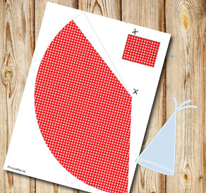 Red dotted party hat  | Free printable party hat