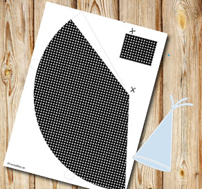 Black dotted party hat  | Free printable party hat