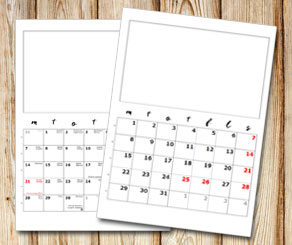 Month calendar: Handwritten days with box over  | Free printable calendar: