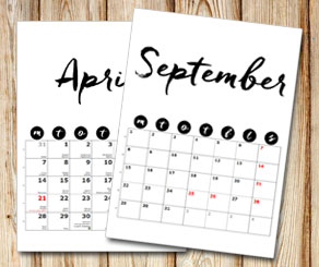 Month calendar: Handwritten month and days in black...  | Free printable calendar: