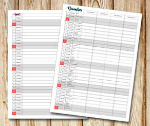 Family calendar: Month name with sharpie background  | Free printable calendar: