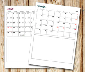 Family calendar: Small month name with sharpie back...  | Free printable calendar: