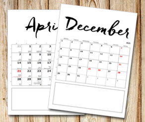 Month calendar: Handwritten month and days with a b...  | Free printable calendar: